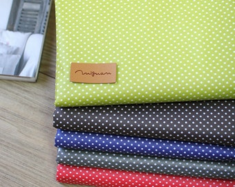 Waterproof Cotton Blend Fabric 2mm Tiny Polka Dot in 5 Colors By The Yard