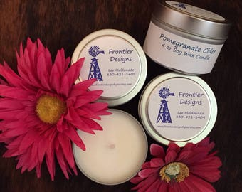 Pomegranate Cider 4 oz soy wax candle