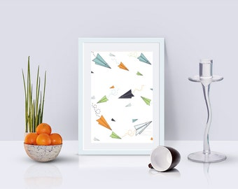 Paper Plane Revelry Print