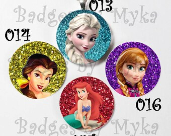 Interchangeable Magnetic Necklace-Glitter Princess Necklace
