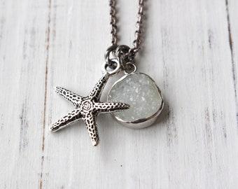 Collier étoile de mer, collier plage, collier ocean, collier, bijoux resort, bijoux de plage, pendentif étoile de mer, étoile de mer pendentif