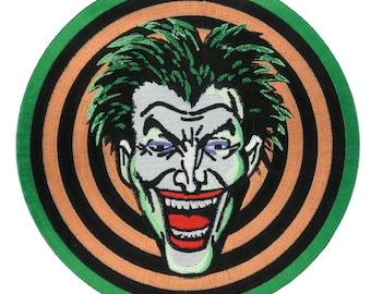 "6"" Movie Replica Joker Gang iron-on Front Jacket Patch 1989 Batman Movie Dc Comic Marvel Halloween Costume Cosplay Goon Thug Memorabilia"