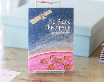 No Place Like Space risograph art zine
