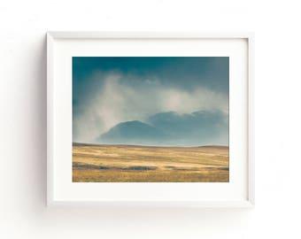 "landscape wall art, landscape print, landscape photography, large art, large wall art, mountain landscape, landscape art, art  - ""The Fray"""