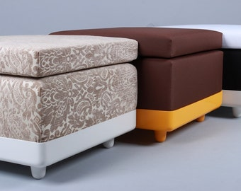 Celebrate Bach cube Stool 70s seat cube with seat cushion