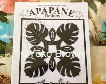 "Hawaiian quilt pattern ""Monstera"" 20 inch x 20 inch"