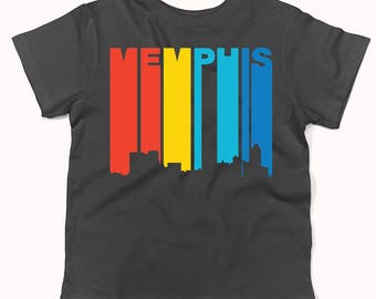 Retro 1970's Style Memphis Tennessee Skyline Infant / Toddler T-Shirt