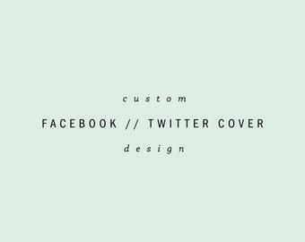 custom facebook page design // twitter page design // social media design