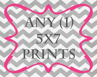 Any (1) 5x7 Print - ANY prints from Rizzle And Rugee