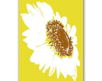 Shine like me  - Sunflower Fine Art Print, summer flower, sunflower on yellow