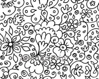 Adult Coloring Pages, Printable Coloring Page, Coloring Pages, Coloring for Adults,  Digital Coloring Page, Kids Coloring, INSTANT DOWNLOAD