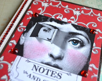 INNeR PaRTS MiNI JoURNAL Inspirational Collage vintage altered art book diary recovery survivor support