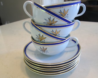 Rorstrand Viktoria Teacups and Saucers Made in Sweden