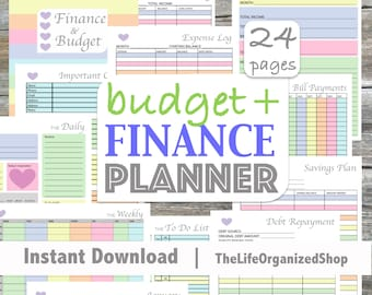 Budget Planner/ Finance Planner / Finance Binder/ Budget Binder/ Personal Finance - From the Luminous Collection