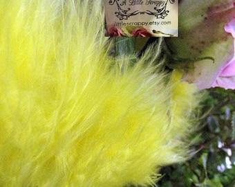 Yellow Bright Marabou Boa Feathers