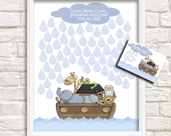Noah's Ark Baby Shower, Noah's Ark Nursery, Alternative Guestbook for 60 Guest, Baby Shower Guest Signature Print, Baby Shower Sign-in Print