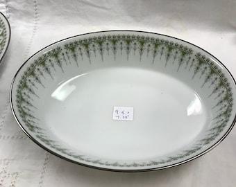"Noritake, Nitto Ware, forest Glen,  9.5"" x 7.25"" oval vegetable bowl"