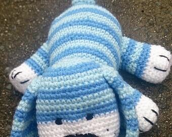 Blue Crocheted Puppy. Amigurumi Dog. Stuffed Animal Soft Toy