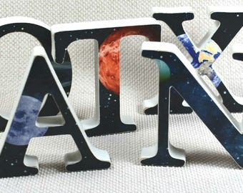 Galaxy Wall Letters