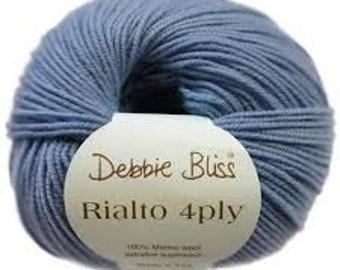 Debbie Bliss Rialto 4 ply in shade 33 Hyacinth.  5 x 50g balls