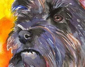 Cairn Terrier Art Print of Original Watercolor Painting 8x10