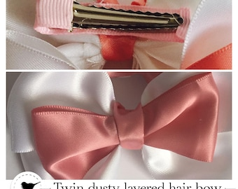 Dusty Layered hair bows