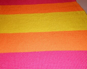 Bright Stripes Personalized Baby Blanket
