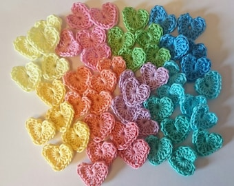 Small Crochet Hearts
