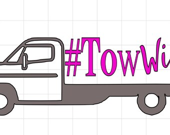 Tow Wife Flatbed Decal