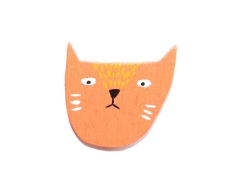 Grumpy cat pin/magnet