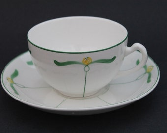 EDWIN M KNOWLES China Co. Teacup and Saucer Set 1113