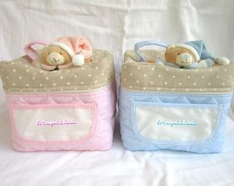 Cas du nouveau-né/Institut de beauté à la naissance, embrayage aida «rose ou bleu»