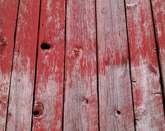 Reclaimed Barn Siding Random Width Boards - Faded Red With Grey Barn Wood - Paneling - Authentic and Vintage Patina