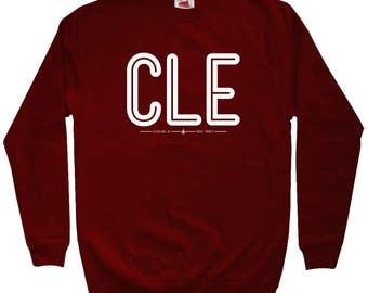 CLE Cleveland Airport Sweatshirt - Men S M L XL 2x 3x - Crewneck, Travel Souvenir, Aviation Sweatshirt, Pilot Sweatshirt, CLE Sweatshirt