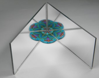 Kaleidoscope Design Acrylic Mirrors- Inspiration Tool for Polymer Clay Artists and Quilters