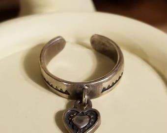 Retired Silpada Dangling Heart Toe Ring