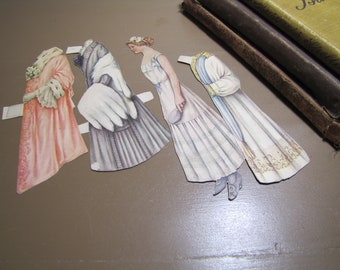 Vintage Victorian Paperdoll - Three Outfits