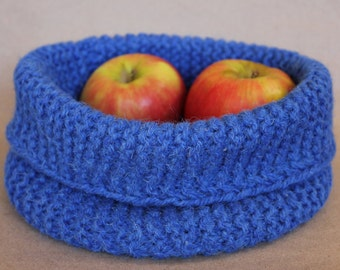 Crocheted wool bowl