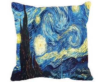Starry Night Throw Pillow Covers/Insert available. Two size