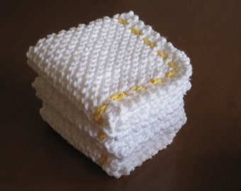 Hand Knitted Cloths for Dishes, Babies, and Face