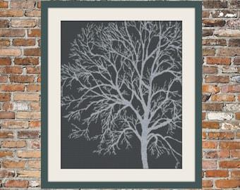 Silver Birch - a Counted Cross Stitch Pattern