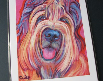 Tawny BRIARD Dog 8x10 Signed Art Print from Painting by Lynn Culp