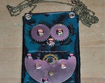 Steampunk Necklace - Reclaimed Clock Parts