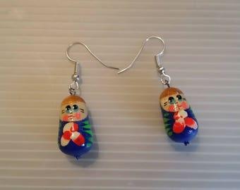 Matryoshka, Серьги Матрешка earrings