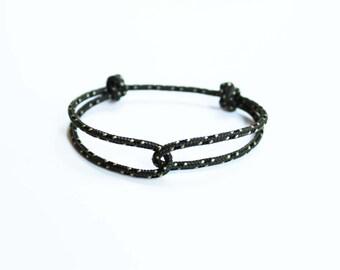 Rope Bracelet - Unisex Hugging Loop Rock Climbing Bracelet - New Green