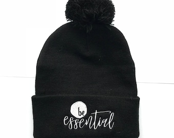Essential Oil Pom-Pom Winter Hat