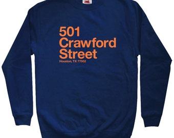 Houston Baseball Stadium Sweatshirt - Men S M L XL 2x 3x - Crewneck, Houston Texas Shirt, Fan, Sports - 3 Colors