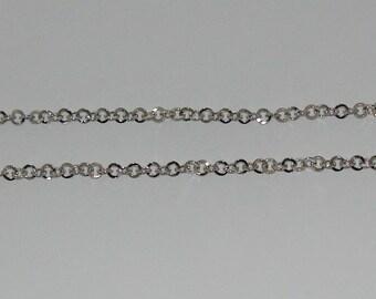 1 m rollo chain size 5.2 mm silver matte - ref: CA 138