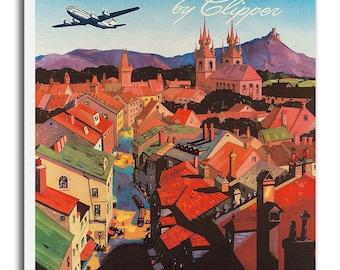 Retro European Print Europe Travel Poster Retro Art Gift Hanging Wall Decor xr581