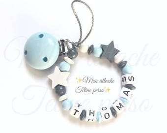 """wooden pacifier ~ Star """"Thomas"""""""